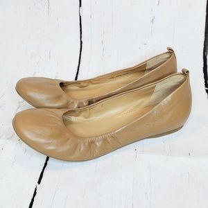 J. Crew | camel leather ballet flats